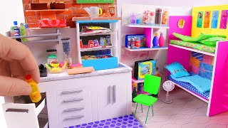 5 DIY Miniature Dollhouse Rooms ~ Kitchen, Bunk Bed, Grocery Store, etc. thumbnail