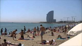 Barcelona Strand, Barcelona beach, пляж Барселоны(, 2012-11-27T03:23:00.000Z)