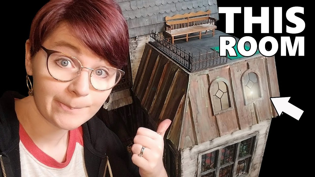 Finishing the Addams DOLLHOUSE: Cousin Itt's Room and Conservatory!