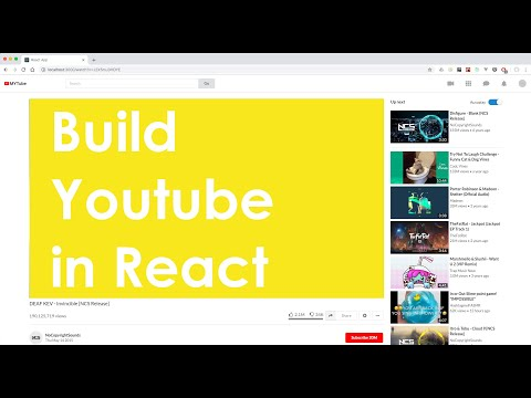 Build Youtube in React - finished project demo thumbnail