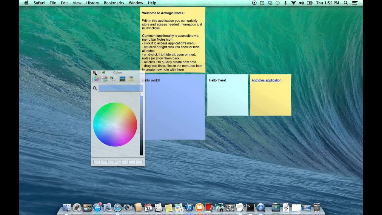 antnotes ultimate stickies for mac os x application usage