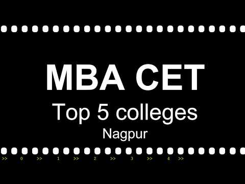 Top 5 colleges in Nagpur through MBA CET with cutoffs average salaries