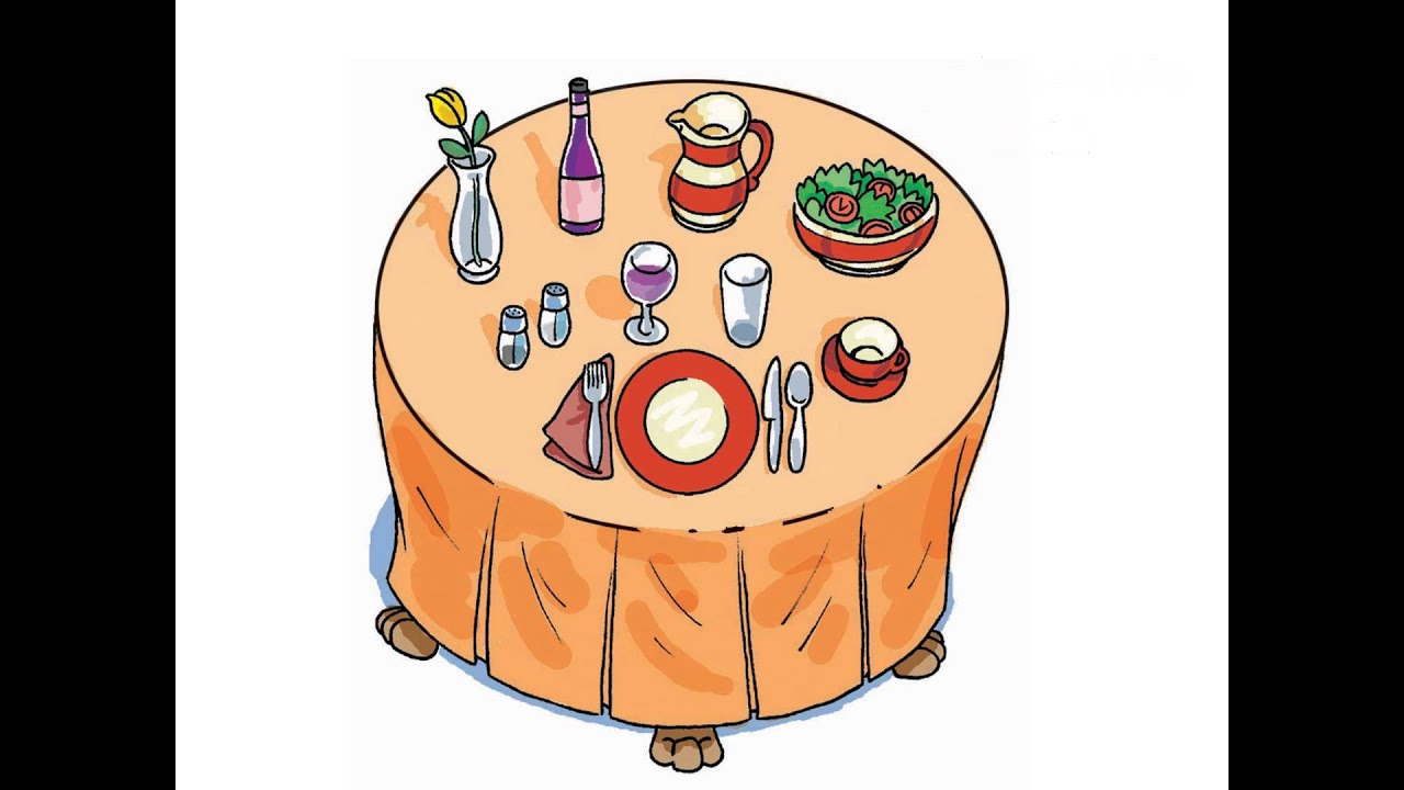 Introduction To Dinner Table Vocabulary For ESL