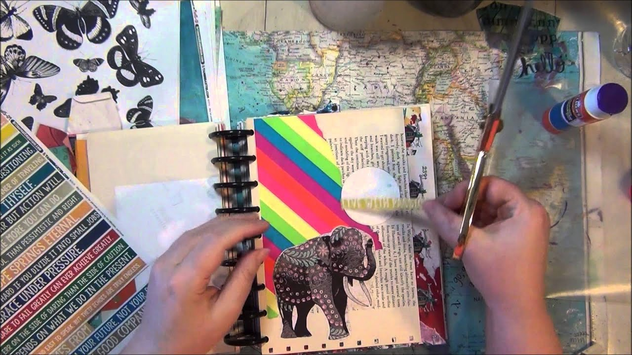 live with passion impulse collage art journal page in my happy