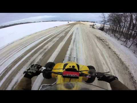 400ex gopro winter ride on paddle tires