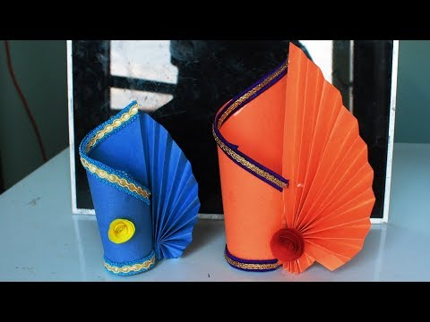 DIY | Paper Flower Vase Making For Decor | Paper Crafts