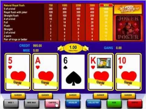 Poker machine a sous gratuit avec joker
