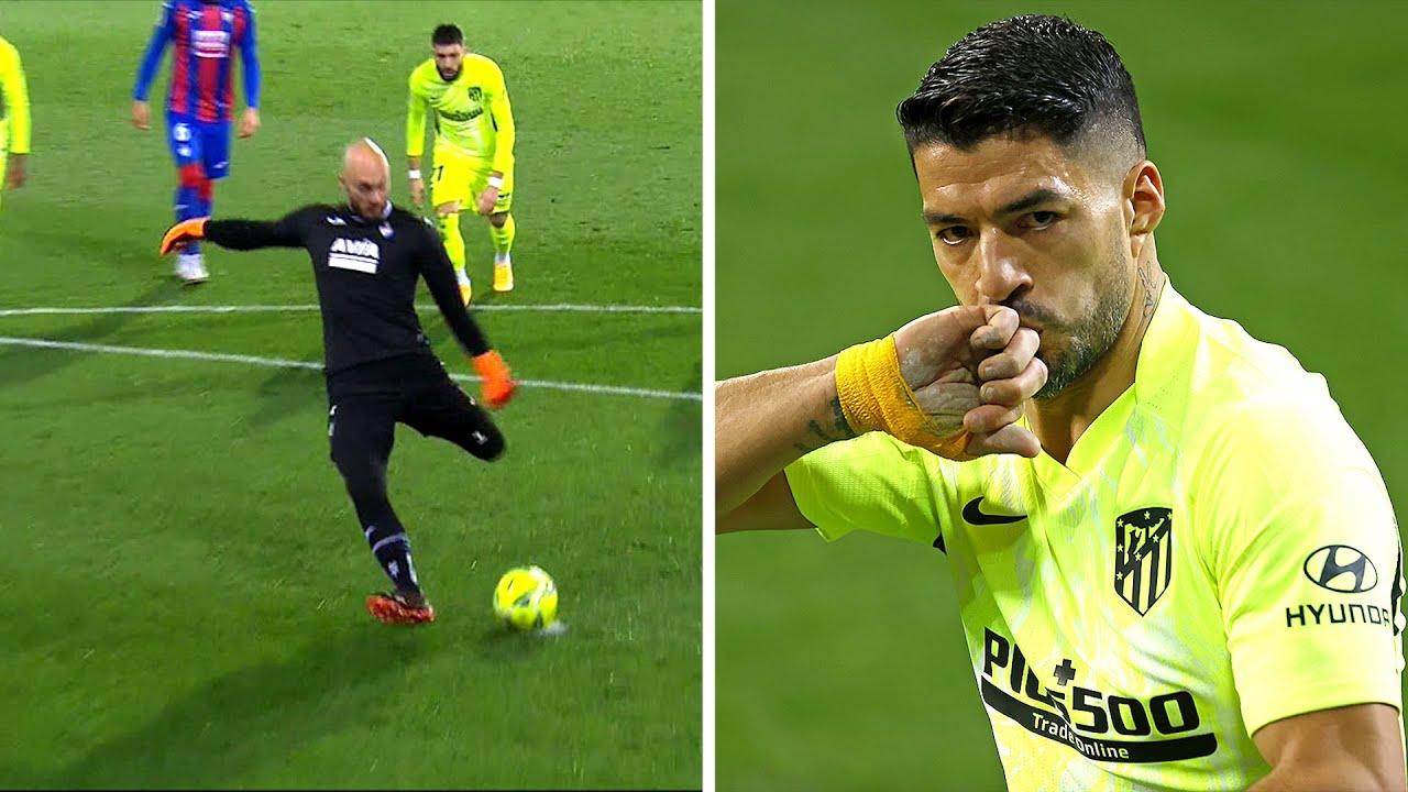 Вратарь Эйбара забил гол Атлетико, но дубль Луиса Суареса испортил ему настроение