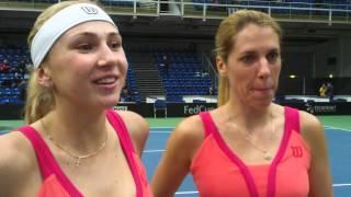 Комментарии Людмилы Киченок и Ольги Савчук после победы в парном поединке