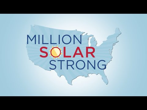 U.S. Solar Industry Installs One-Millionth Installation; Is Now #MillionSolarStrong