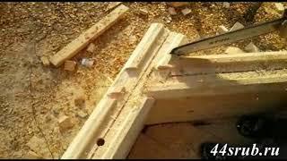 Эркер в доме из бруса  - строительство