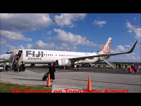 business class Fiji Airways from Nadi Fiji to Tonga