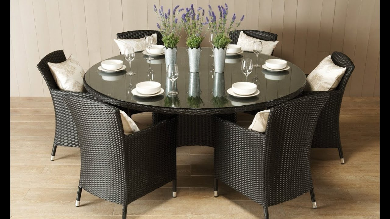 Awesome Round Dining Room Table for 6 - YouTube