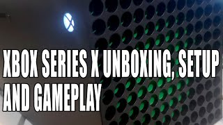 Xbox Series X Unboxing, First Setup & Controller & Gameplay