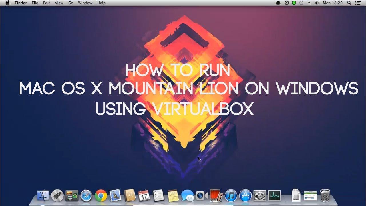 How do i install OSX Mountain Lion on a PC?