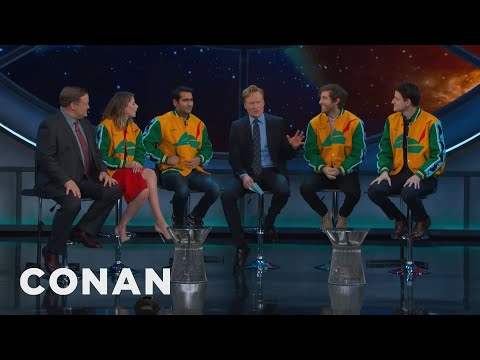 "The Cast Of ""Silicon Valley"" Rocks Pied Piper Jackets  - CONAN on TBS"