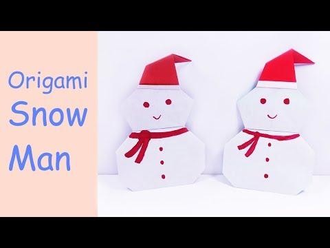 Easy Origami Snowman | DIY Paper Crafts | DIY Handmade