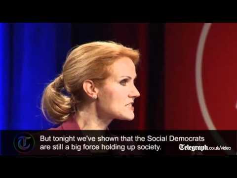 Helle Thorning-Schmidt's vicory speech as new Danish Prime M