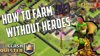 CLASH OF CLANS STRATEGY TO FARM GOLD, ELIXIR, DARK ELIXIR [TH8,TH9,TH10] NO HEROES (GOBLIN KNIFE)