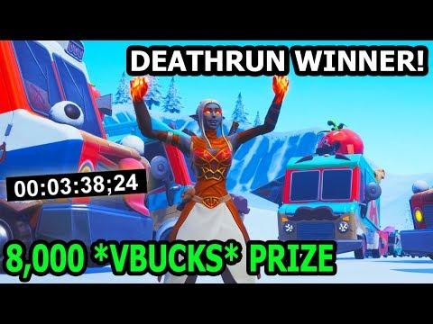 *WORLD RECORD* Official DEATHRUN WINNER! (8,000 *FREE VBUCKS* PRIZE)