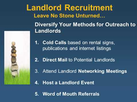Rapid ReHousing Module 2: Housing Search, Location and Landlords