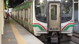東北本線E721系0番台仙台駅発車※発車メロディー「ff(フォルティシモ)」あり