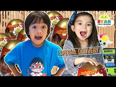 I MAILED MYSELF TO RYAN TOYSREVIEW in a BOX FORT to his the Golden Mystery Egg and It Worked! (Skit)