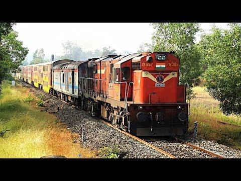 Kalyan WDG3A SHAKTI 11086 GOA AC Double Decker Express Through Konkan's Forest : Konkan Railways