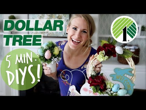 DOLLAR TREE DIYS FOR LAZY PEOPLE! 😆 Spring & Easter 2019