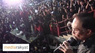 (Improved Audio) Anwar Ibrahim: Perhimpunan Tolak Penipuan PRU13 Di Kelana Jaya