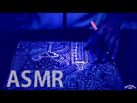 [ASMR] Hypnotizing DRAWING with UV Black Light - FRENCH Whispering