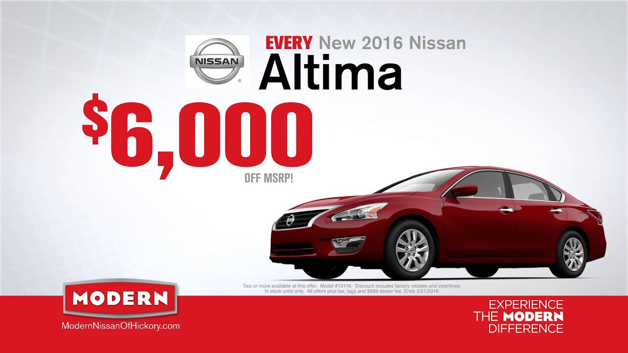 Nissan Now Sales Event at Modern Nissan of Hickory