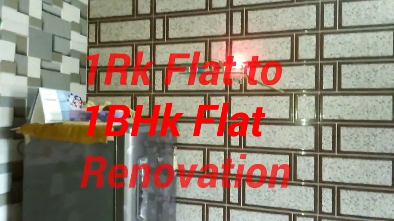 1rk Flat To 1bhk Flat Renovation 1rk Flat Renovation 1rk Flat To 1bhk Modification 1rk To 1bhk Youtube