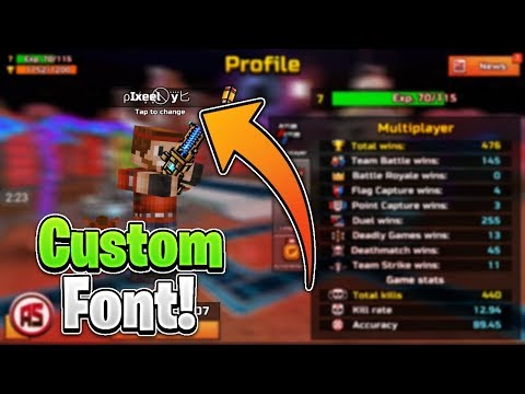 How To Get Cool Custom Fonts In Pixel Gun 3D 15.2.3 Without Root!