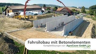 Fahrsilobau mit Betonelementen - Fahrsiloelemente von AgroCover GmbH
