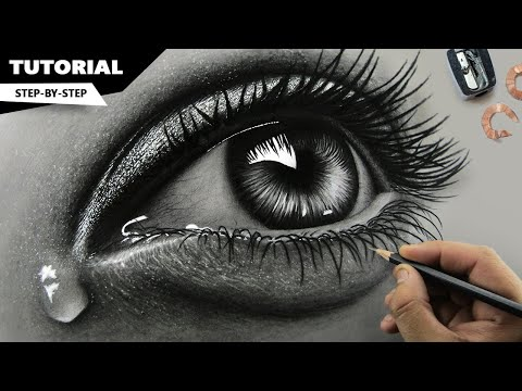 How to draw realistic eyes video download