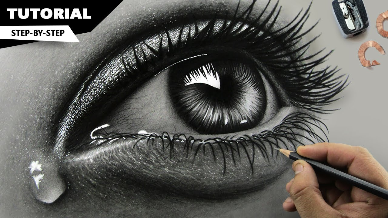 It is an image of Fabulous Real Eye Drawing