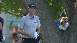 Webb Simpson's fabulous bunker hole out for birdie at DEAN & DELUCA