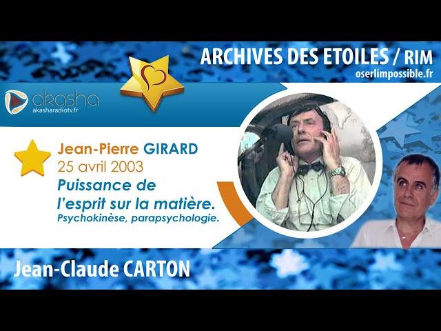 Le L'esprit La De Matière Pierre Sur Pouvoir Youtube Jean Girard EwXHnqng
