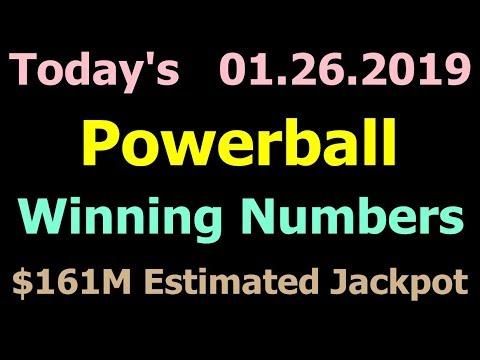 Today Powerball Winning Numbers 26 January 2019. Powerball Drawing 1/26/2019