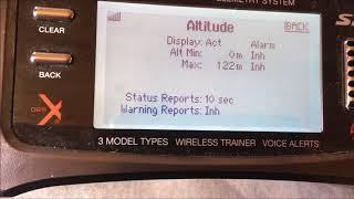 Spektrum Vario meter/altimeter setup