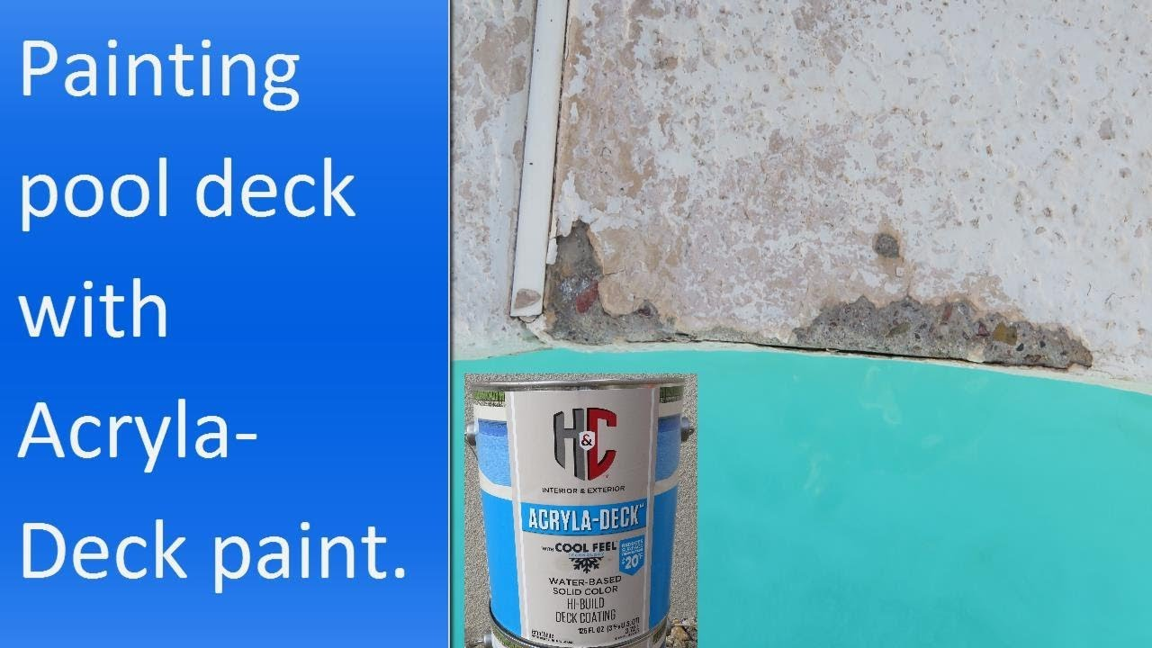 Applying H Amp C Acryla Deck With Cool Feel Technology Paint