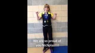 Nicholas finding out he won GOLD in his Basic 8 program.  Fun video! - 5-19-2013