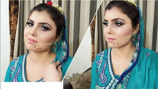 Traditional Engagement look with C green out fit#Engagement Makeup Tutorial#