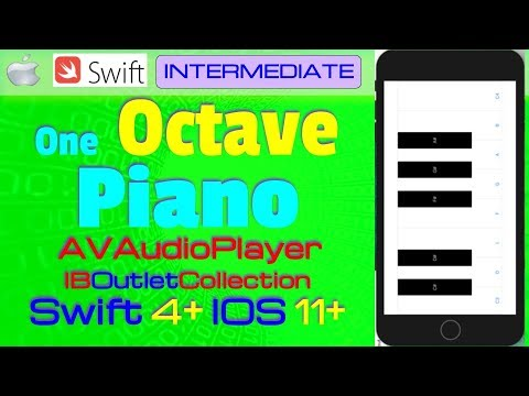 IOS 11, Swift 4, Tutorial : How Make One Octave Piano ( AVFoundation,  IBOutletCollection )
