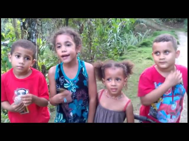 niños con la naturaleza
