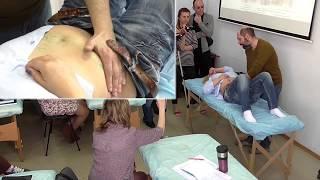 Демонстрация висцеральных манипуляций по Барралю. Олег Агеев