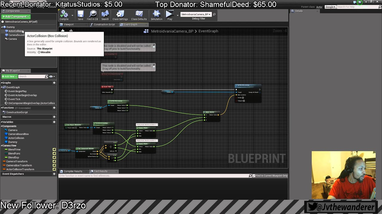 How to make a Metroidvania/ 2D Camera Blueprint System on #UE4 (Part 4)