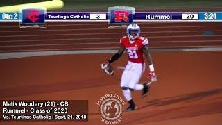 Malik Woodery vs. Teurlings Catholic - Rummel 2020 CB