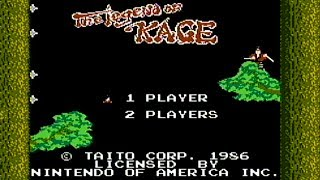 The Legend of Kage - NES Gameplay